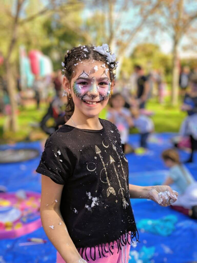 Foam fun with First Senses at the Supercool Kids Party