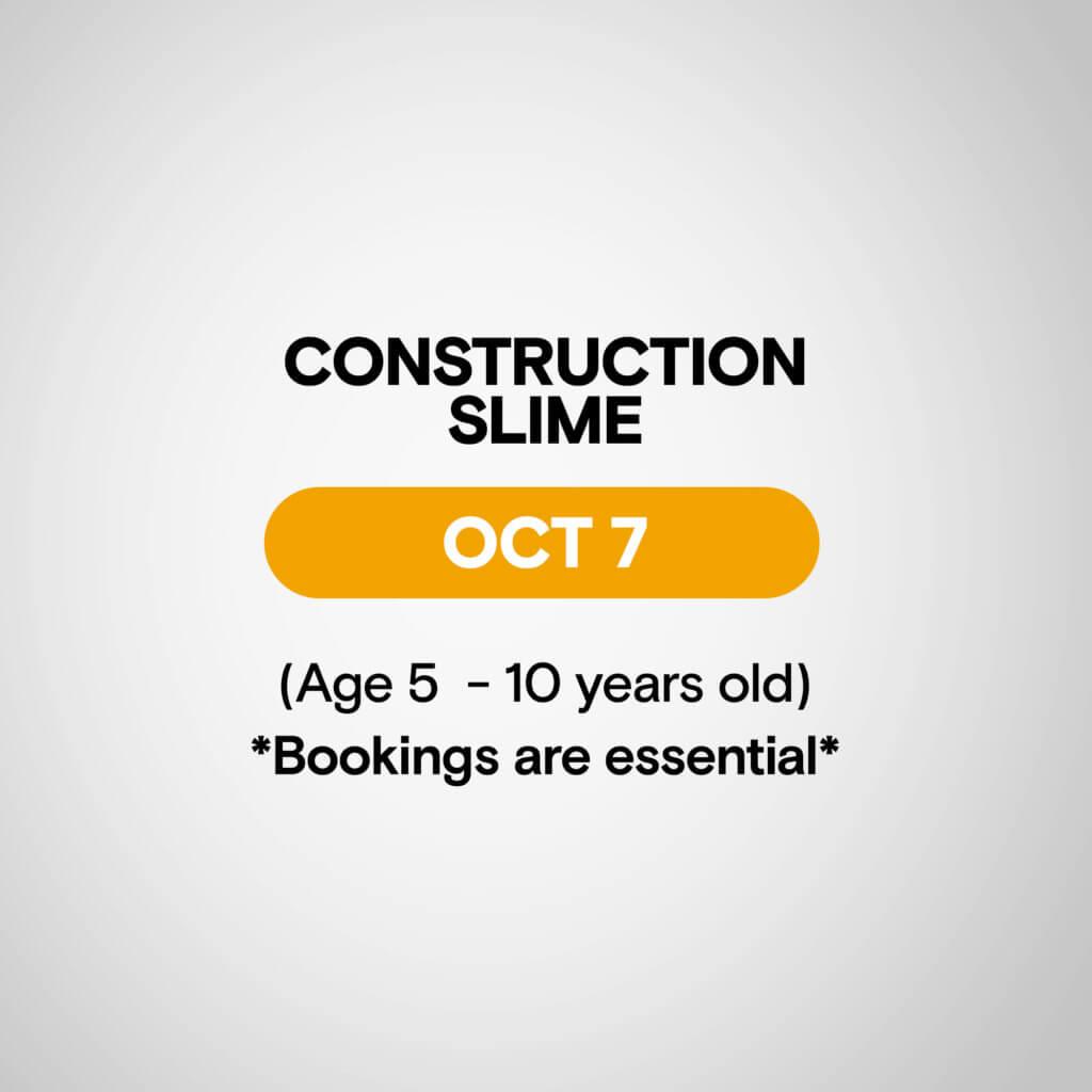 Construction slime hallett cove first senses